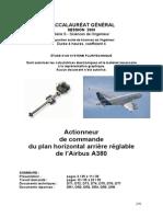 Bac SSI 2009 Actionneur Commande Vol A380
