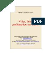 Émile DURKHEIM   Villes, États et confédérations en Grèce