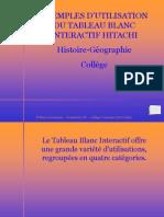 Marie Desmares-Exemples d'utilisation du TBI en histoire-géographie (NXPowerLite)