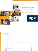 Microsoft Office 2010 Technical Preview Reviewer's Guide, July 2009