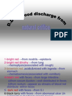 D.D of Blood Discharge