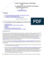 DAVIES ICT, Modern Languages and the National Curriculum