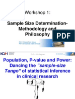 Sample Size Workshop 1