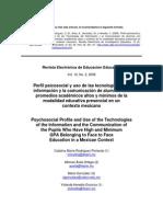 Perfil psicosocial y uso de las tecnologías de la información y la comunicación