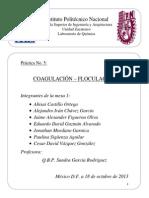 Práctica 5 Coagulación Floculación