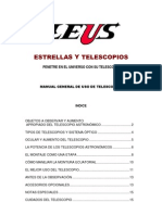 Manual para el uso del telescopio