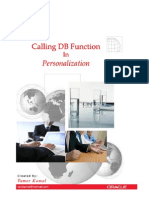 Calling DB Function in Personalization