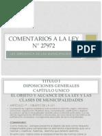 COMENTARIOS A LA LEY N° 27972.pptx  Art. 1-8