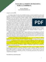 Medrano Antonio - Vision Humanista Para La Empresa