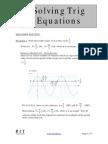 SolvingTrig Equations