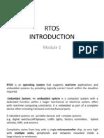 RTOS Introduction Module 1
