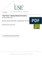 """Pulp Fictions"" Reading Pakistani Domesticity"
