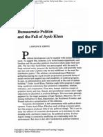 Bureaucratic Politics and the Fall of Ayub Khan