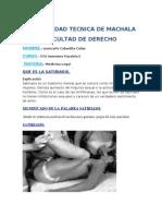 Consulta de Medicina Legal Para El Jueves 18 de Julio