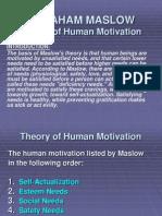 Exam Need TheoryMASLOW