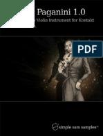 Signor Paganini Solo Violin Manual (Kontakt)