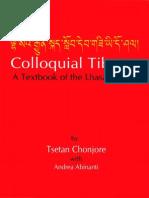 84033132 Tsetan Chonjore Colloquial Tibetan