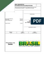 Memorial Descritivo - Projeto executivo de arquitetura - Ministério da Saúde