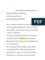 Posibilidades del esfuerzo físico humano en la matriz energética argentina