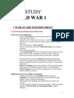 WW1 Notes