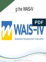WAIS IV Pearson Presentation
