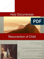 rise to christianity- holy events