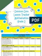 gr  2 math common core lesson tracker