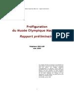 Musée Olympique mauricien - Rapport préliminaire de Stephane Sinclair, 2009