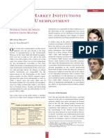 Labour market institutions and unemployment