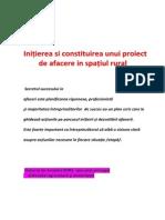 IniAierea Si Constituirea Unui Proiect