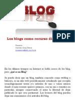 los blogs como recurso didáctico