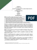 Ley 17 de 1997 de Cooperativas