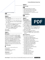 Interchange4thEd Level2 Grammar Worksheets AnswerKey