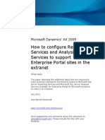 How to Configure Reporting Services and Analysis Services to Support Enterprise Portal Sites in the Extranet AX2009