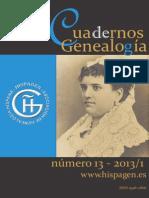 Cuadernos de Genealogia 13