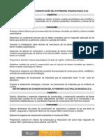 DEPARTAMENTO DE CONSERVACIÓN DEL PATRIMONIO CULTURAL EN MUSEOS, primera reseña