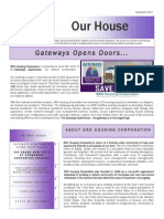 SRO Housing Corporation Newsletter Autumn 2013 (Gateway Apartments)
