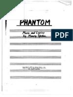 Yeston - Phantom (Cleaned) - Score