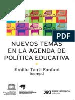 Tenti Fanfani Intro Nuevos Temas en La Agenda Educativa
