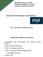 Doseamento de Antibióticos _  Controle de Qualidade microbiológico