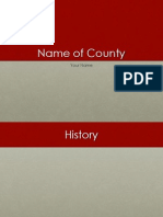 county report powerpoint template