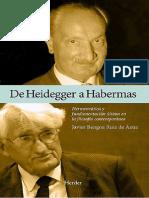 Bengoa. de Heidegger a Habermas