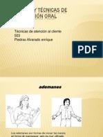Actitudes y técnicas de comunicación oral