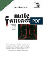 Klaus Theweleit MALE FANTASIES Volume 1 Women, Floods, Bodies, History 1987