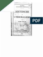 Nietzsche Et Le Moralisme