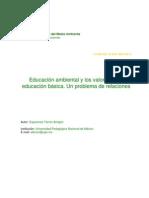 Educación ambiental y los valores en la educación básica Esperanza