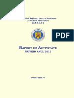 Raportul CNSAS pe 2012