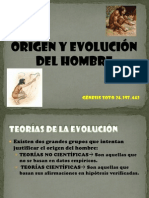 Origen y Evolucion Del Hombre