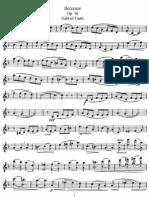 Berceuse Op. 16 (Flute)