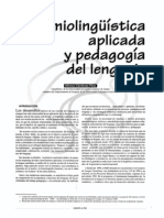 SEMIOLINGUISTICA APLICADA A LA ENSEÑANZA DEL LENGUAJE - ALFONSO CARDENAS